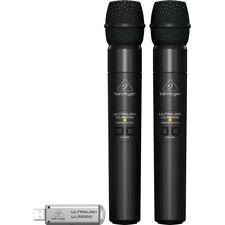 Behringer Ultralink ULM202-USB 2.4 GHz Dual Handheld Wireless Microphone System