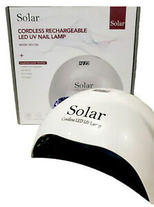 Nail Dryer Wireless Rechargeable Cordless LED/UV Nail Lamp Gel Polish White