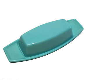 Vintage Covered Butter Dish Robin Egg Blue 1/4 lb Rubbermaid Winged Hard Plastic