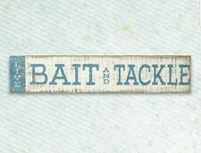 NEW!! Bait and Tackle Sign Wall Decor Sign Lake Rustic Decor Wood