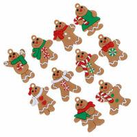 10Pcs charms Christmas gingerbread man pendant creative handmade ornaments