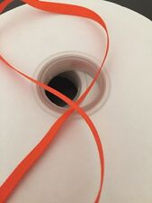 "Solid Grosgrain Ribbon Roll 50 yds 1/4"" (6 mm) Orange"