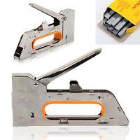 Heavy Duty Tacker Staple Gun 4/6/8mm Upholstery Stapler With 2500 x Staples Free