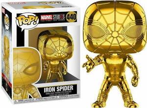 Funko Pop! MARVEL Gold Chrome Iron Spider #440 Fan Vote Winner Vinyl Figure NIB