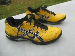"Men's  ""Asics Onitsuka Tiger E104Y Yellow Leather Sneakers""  10 1/2 / Rare"