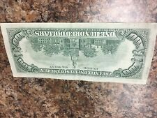 1977 (B) $100 One Hundred Dollar Bill Federal Reserve Note New York Old Money