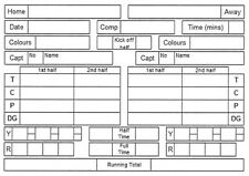 Rugby Referee Scorecard x10