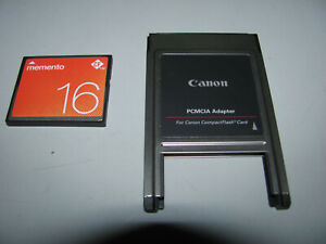 Canon PCMCIA For Canon Camera With 16gb CF Card Tested & Working As New
