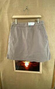"""Adidas women's skort size 8 waist 29"""" solid beige stretch cotton spandex polyest"""
