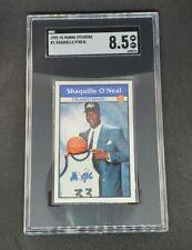 New listing Shaquille O'Neal 1992-93 Panini Sticker Rookie Card #1 SGC 8.5 Shaq
