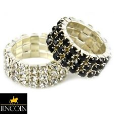 Lincoln Diamante Plaiting Bands *BLACK* 20 Pack  Horse Grooming Showing Dressage