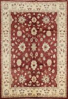 Floral Peshawar Oriental Traditional Area Rug Hand-knotted Home Decor 7x8 Carpet