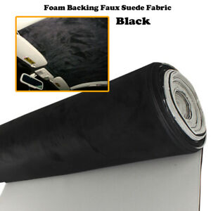 Black Suede Headliner Fabric Car Roof Lining Upholstery 1.51M Wide Sold By Meter