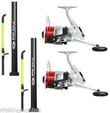 2 X BOAT FISHING RODS 6FT 2 PIECE + 2 X SILK 70 SEA REELS LINEAEFFE WITH LINE