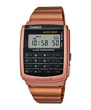 Casio CA-506C-5A Digital Retro Vintage Databank Rose Gold Stainless Steel Watch