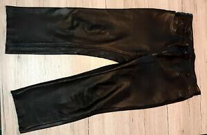 Motorrad Lederhose schwarz von Germot Gr.60 fast ungetragen, sehr gut erhalten