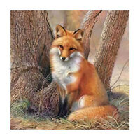 5D DIY Full Drill Diamond Painting Fox Cross Stitch Embroidery Wall Mosaic Kit