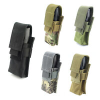 Tactical Molle Flashlight Pouch Holster Belt Carry Case Holder