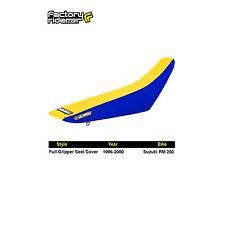 1999-2000 SUZUKI RM 125 RM 250 Blue/Yellow STANDARD SEAT COVER BY Enjoy MFG