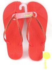 Capelli Womens Flip Flops Red Fine Glitter Comfort Insole Size 11 New
