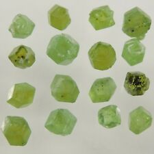 11.95 cts green demantoid garnet rough crystal lot AAA Pakistan