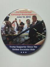"2020 President Donald Trump 3"" Button Golden Escalator Ride Announcement Pin"
