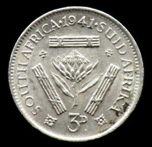 3 PENCE 1941 AFRIQUE DU SUD / SOUTH AFRICA (argent / silver)