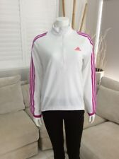 ADIDAS Cycling Long Sleeve Shirt Womens White Size Ladies Large / 16-18 [WS1]