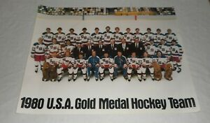 Vintage Original 1980 USA Olympic Hockey Team Poster - Volkswagen - LAST ONE!!