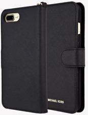 Authentic Michael Kors Saffiano Leather Folio Case for iPhone 7 Plus 8plus Black