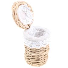 1/12 Dollhouse Miniature Handmade Bamboo Basket Model Decor Ornaments T li