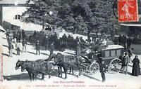 CPA 65 CAPVERN les Bains - Place des thermes - L'Omnibus du Bourridé (SUPERBE AT