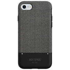 Jack Spade New York iPhone 7 Teck Oxford Fitted Hard Shell Case - Grey