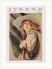 Titelseite der Nummer 20 von 1923 Bruno Beran Frau Portrait Hut Jugend 4374