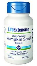 LIFE EXTENSION Water-Soluble Pumpkin Seed Extract  60 vcap  NEW- SEALED