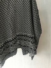 Floral Black White Mosaic Small 6 8 Light Cardigan Top Zara kimono