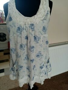 River Island cotton Smock with cami  14 cotton