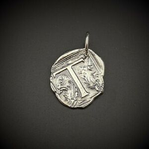 Waxing Poetic Sterling Silver T Charm Initial