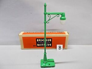 LIONEL O Gauge #46 HIGHWAY LAMP POST Circa 1949 RARE BOX Example 'B' Gauge 0