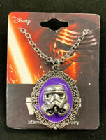 Disney STAR WARS Storm Trooper Cameo Pendant Necklace-Stainless Steel