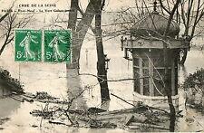 PARIS inondations 1910 crue de la Seine Pont Neuf jardin du Vert Galant kiosque