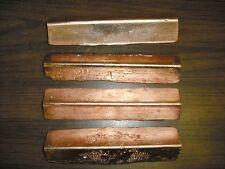 12.90 pounds copper.  Triangle bar/ingots