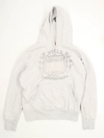 Superdry Mens Size 2XL Cotton Blend Graphic Grey Hoodie