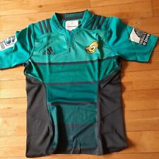 Hurricanes New Zealand Adidas Player Issue Rugby Shirt GPS Slot Size 10 L New