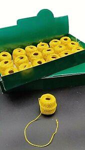 Gold Metallic Thread Twine 36 x 8m Crafting Gift Tag Bracelet Braid Cord String