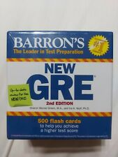NEWBarron's GRE Flash Cards : 500 Flash Cards to Help You Achieve a Higher Score