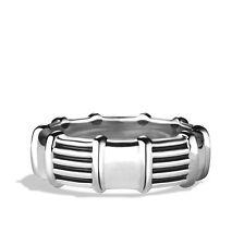 David Yurman 8mm Chairman Royal Cord Band Ring in Sterling Silver Size 10