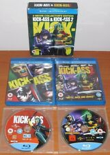 Kick-Ass & Kick-Ass 2 (Spanish,Italian,French,German) [Blu-Ray Region Free ABC]