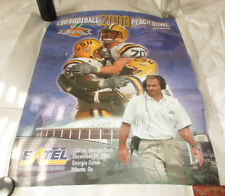 Poster LSU Football Peach Bowl 2000 Signed by 14 Players with Numbers 18 x 24