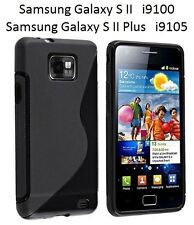 TPU gel silicone case cover S-line black for Samsung Galaxy S II 2 i9100 i9105